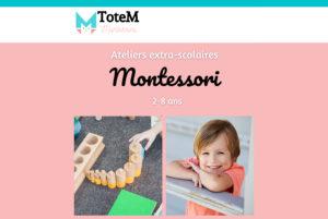 Des ateliers Montessori
